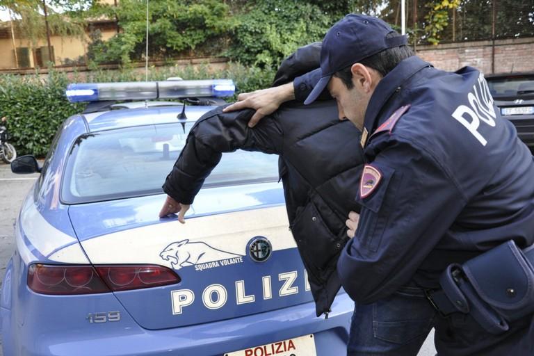 L'arresto operato dalla Polizia di Stato