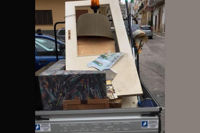rifiuti in via Cioffrese