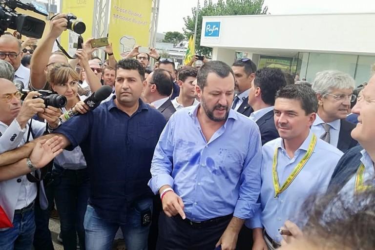 Salvini da Coldiretti durante la Fiera del Levante