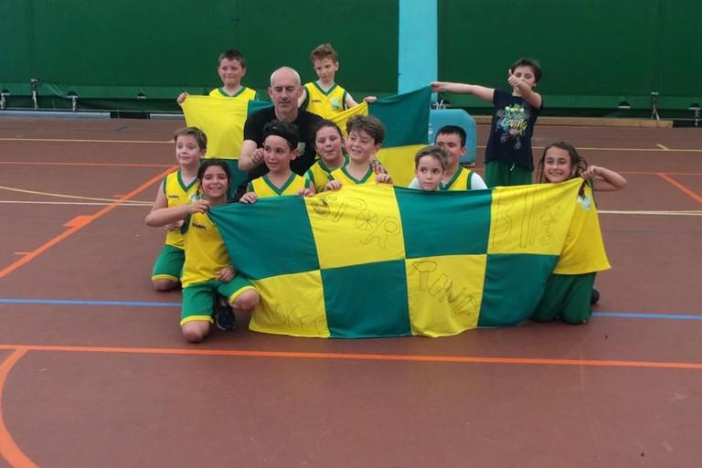 I piccoli cestisti dello Sporting Club. <span>Foto pagina facebook Asd Sporting Club Bitonto</span>