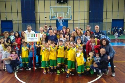 La delegazione dello Sporting Club al PalaFlorio di Bari. <span>Foto pagina facebook Asd Sporting Club Bitonto</span>