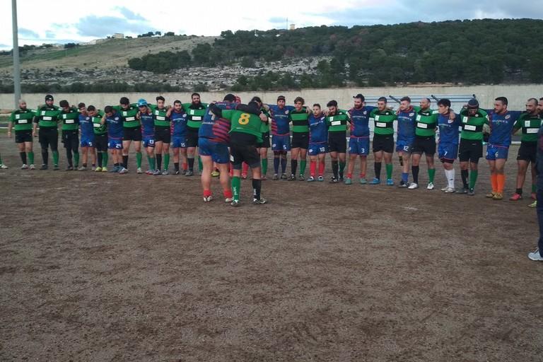 La Bitonto Rugby prima del match di Faggiano
