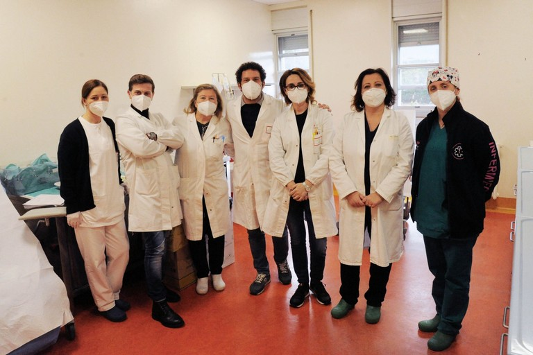 Team vax dell'ospedale San Paolo