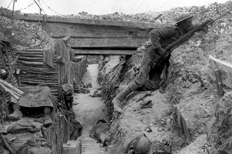 Trincea della Prima Guerra Mondiale