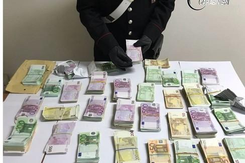 Un sequestro di denaro dei carabinieri