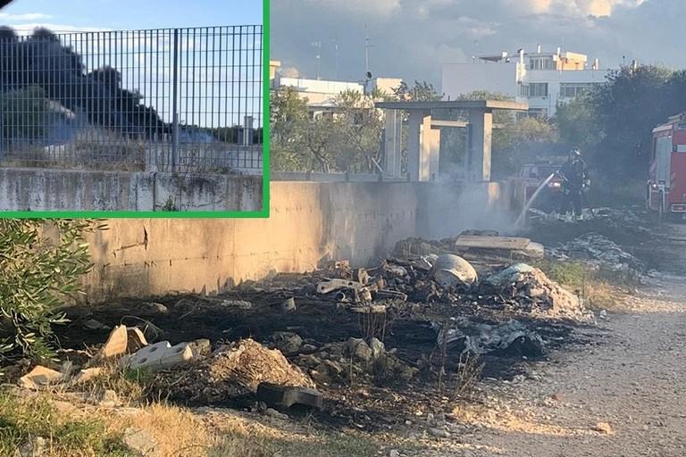 Vigili del Fuoco al lavoro durante lincendio in via SantAneta