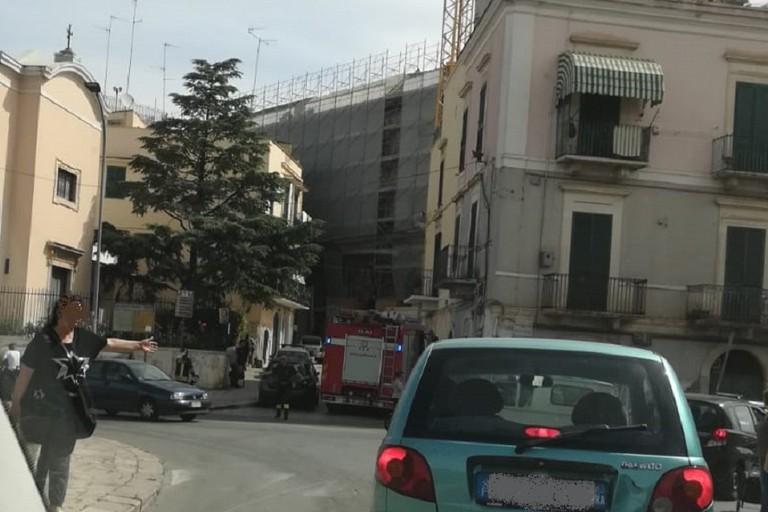 Vigili del Fuoco in via Ambruosi