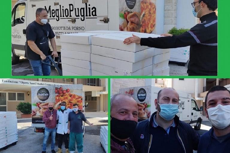 volontari al lavoro alla onlus Ss Medici